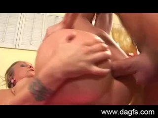 Blonde babe seriously needs cock in her ass
