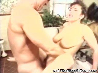 Bathroom fuck for big titted female