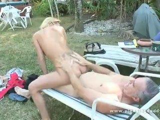 Old guy fucks daughters hot best friend
