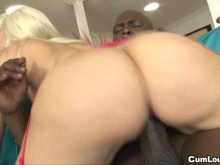 Anika Albrite rides that black cock hard