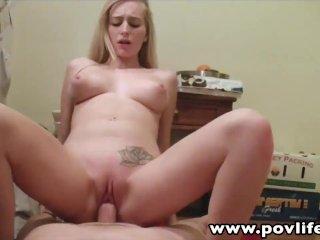 Natural tits Stacie Jaxxx POV fucked cumswall
