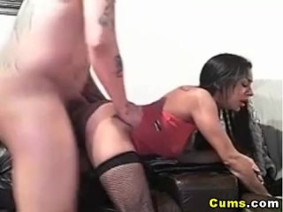 Homemade deepthroat and couch fuck