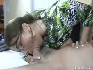Lady Gives Her Daughter's Boyfriend A Blowjob