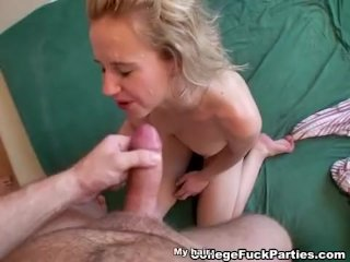 Blonde and her girlfriends fucked at party