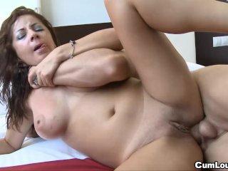 Nasty slut grinds on hard cock