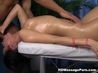 Sexy massage fuck with horny Polina