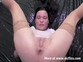 Fisting and pissing on my horny wife