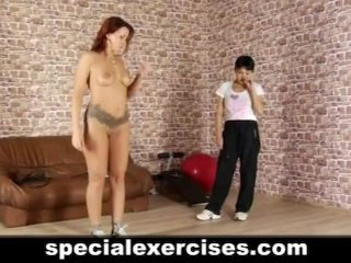 Lesson of obedience for redhead sweetie