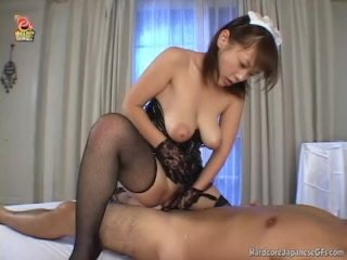 Busty Japanese Girlfriend Receives A Facial