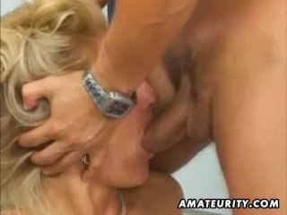 Busty amateur Milf anal