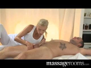 Horny blonde Uma Zex takes a fat cock