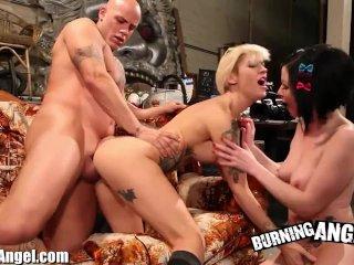 Burning Angel Kleio and Veruca Anal Threesome