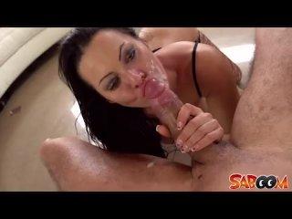 Deepthroating twat Sandra Romain
