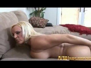 Hot Blonde Milf Tries A Big Black Cock
