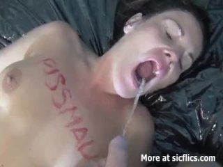 Perverse wife fisted fucked and drinking piss