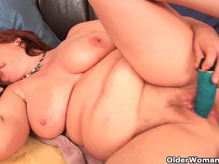 Chubby granny with big tits needs orgasm