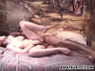 Busty French hairy amateur girlfriend anal