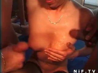 French swingers in a group anal sex
