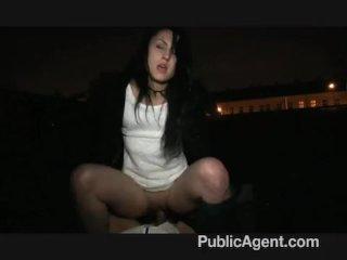 PublicAgent – Kristina flashes tits in public