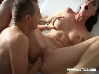 Busty brunette loves hard fisting orgasms