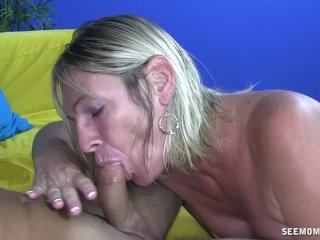 Dominant Lady Sucks A Young Cock