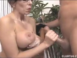Big-Titted Milf Strokes A Dick