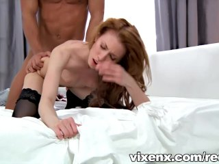 Sexy Camila in lingerie fucking black guy