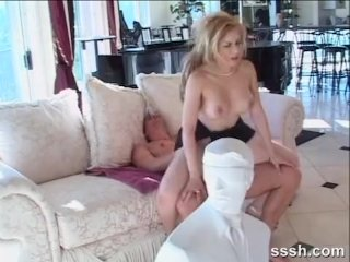 Beautiful blonde with great tits anal sex