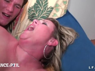 BBW French cougar hard fisted and sodomized