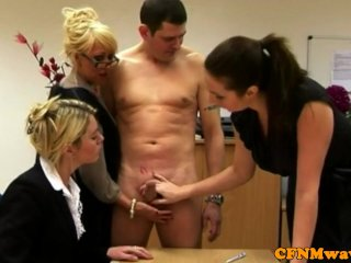 Tough FEMDOM CFNM matures wanking guy