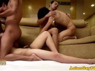 Piss fetish asian dude anal fuck orgy