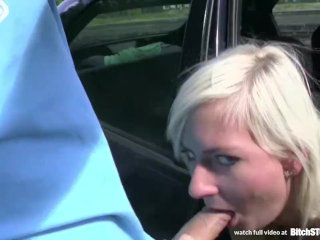 Bitch STOP – Squirting blonde fucked in car