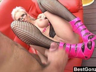 Jizz On Pink High Heels