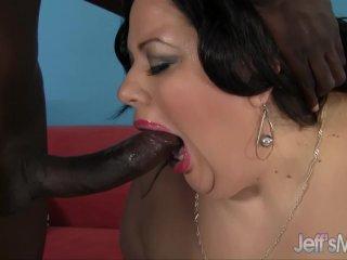 Feeding dick dick to fat ass Desiree Devine