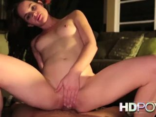 HDPOV Small boobed babe makes your wish cum