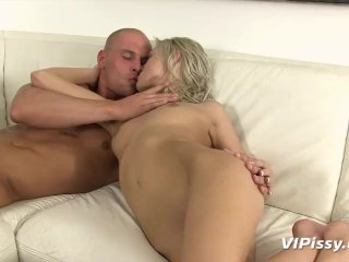Hardcore cutie trades golden showers with her