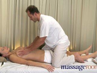 Massage Rooms – Big natural tits oiled up
