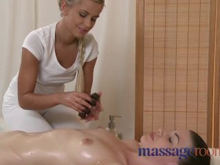 Massage Rooms – Perfect breasts are oiled