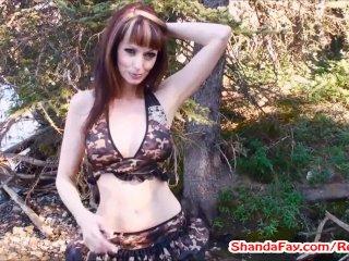 Canadian Pussy Outdoors! MILF Shanda Fay!!