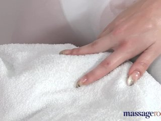 Massage Rooms Blonde masseuse screams