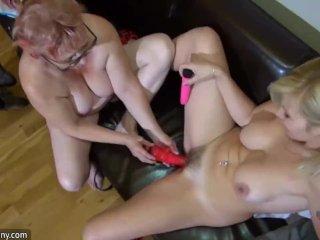 OldNanny Two horny lesbian woman is enjoying