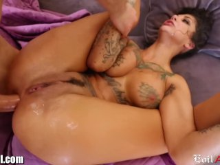 The Swinger Experience Presents EvilAngel Bonnie Rotten DP'd and SQUIRTING