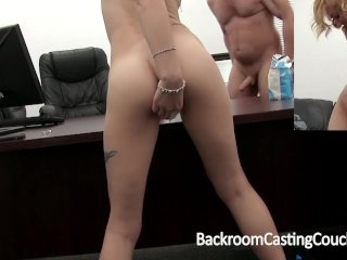 Anal Loving Instructor on Casting Sofa
