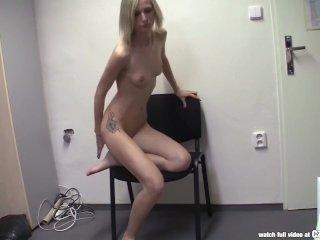 CZasting – Skinny Czech blonde at casting