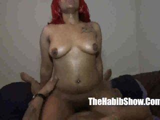 thick red pussy banged slober on BBC