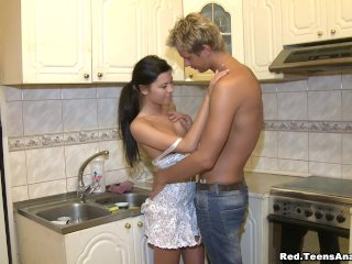 Assfucked in a kitchen