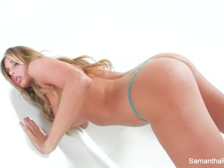 Samantha Saint has some naughty alone time