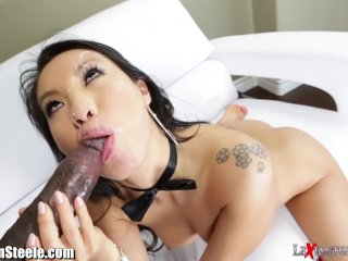 The Adult Video Experience Presents Asa Akira Buttfucked by HUGE Black Dick