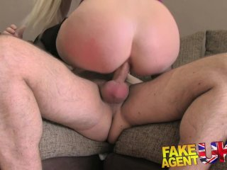 FakeAgentUK Amateur blonde pops anal cherry