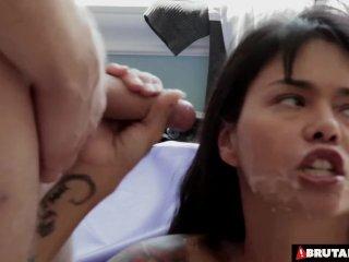 BrutalClips – Dana Vespoli vs 2 eager cocks